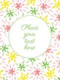 Tarjeta con las flores de la acuarela Fotografía de archivo libre de regalías
