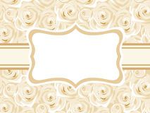 Tarjeta con las rosas blancas. Imagenes de archivo