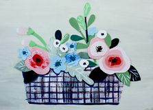 Tarjeta con las rosas del collage libre illustration