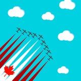Tarjeta con los aviones Fotografía de archivo libre de regalías