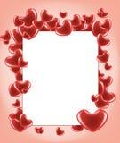 Tarjeta con los corazones Fotos de archivo
