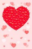 Tarjeta con los corazones stock de ilustración