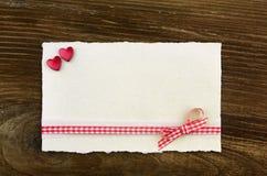 Tarjeta con los corazones Foto de archivo
