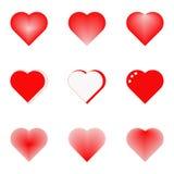 Tarjeta con los corazones Imagenes de archivo