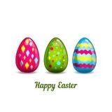Tarjeta con los huevos de Pascua de la historieta Foto de archivo