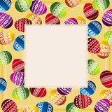 Tarjeta con los huevos de Pascua, vector