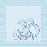 Tarjeta con los juguetes Stock de ilustración