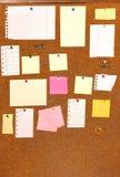 Tarjeta con los papeles en blanco, Imagenes de archivo