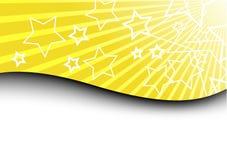 Tarjeta con los rayos y las estrellas solares Libre Illustration