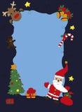 Tarjeta con Papá Noel y sus amigos Fotografía de archivo libre de regalías