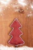 Tarjeta con un árbol de navidad hecho en casa Imágenes de archivo libres de regalías