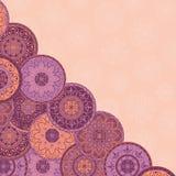 Tarjeta con un diseño abstracto Imágenes de archivo libres de regalías