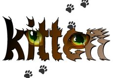 Tarjeta con un gatito. 02 (vector) ilustración del vector