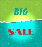 Tarjeta con venta grande del texto Imagen de archivo libre de regalías