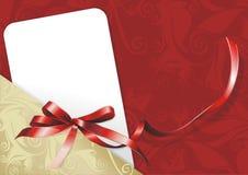 Tarjeta congratulatoria Fotografía de archivo libre de regalías