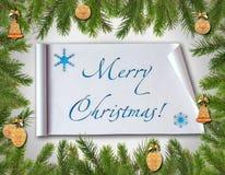 Tarjeta congratulatoria de la Navidad. Imágenes de archivo libres de regalías