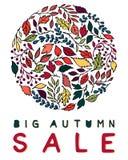 Tarjeta creativa de la venta del otoño Imagen de archivo libre de regalías