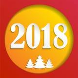 Tarjeta creativa del diseño de la Feliz Año Nuevo 2018 en fondo moderno Ilustración del vector EPS10 libre illustration