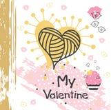 Tarjeta creativa del ` s de la tarjeta del día de San Valentín Fotografía de archivo libre de regalías