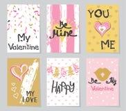 Tarjeta creativa del ` s de la tarjeta del día de San Valentín Fotografía de archivo