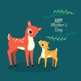 Tarjeta creativa del vector del día de madre stock de ilustración