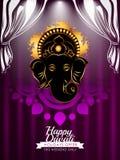 Tarjeta creativa moderna de Diwali Foto de archivo libre de regalías