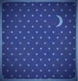 Tarjeta cuadrada con las estrellas del lunar Fotografía de archivo libre de regalías