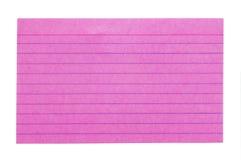 Tarjeta de índice 3 Fotografía de archivo libre de regalías