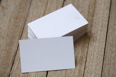 Tarjeta de índice en blanco Foto de archivo libre de regalías