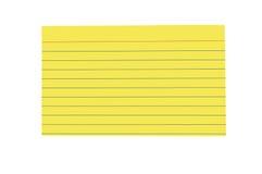 Tarjeta de índice en blanco brillantemente coloreada imagenes de archivo
