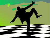 Tarjeta de ajedrez Foto de archivo libre de regalías