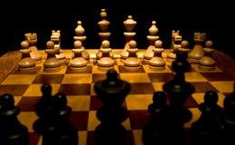 Tarjeta de ajedrez Foto de archivo