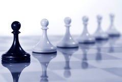 Tarjeta de ajedrez Fotos de archivo