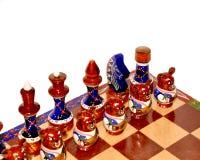 Tarjeta de ajedrez adornada Imagen de archivo libre de regalías
