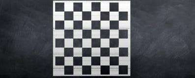 Tarjeta de ajedrez de la tiza Fotografía de archivo libre de regalías