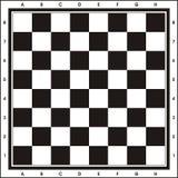 Tarjeta de ajedrez - impresión y juego Foto de archivo libre de regalías