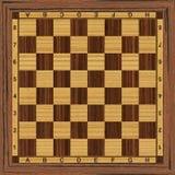 Tarjeta de ajedrez de madera Imagen de archivo libre de regalías