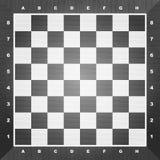 Tarjeta de ajedrez vacía Imagen de archivo libre de regalías