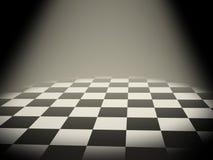 Tarjeta de ajedrez vacía Fotografía de archivo libre de regalías