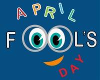 Tarjeta de April Fools Day ilustración del vector