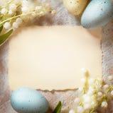 Tarjeta de Art Happy Easter Foto de archivo