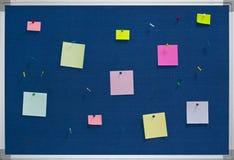 Tarjeta de aviso Foto de archivo libre de regalías