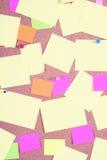 Tarjeta de aviso imagen de archivo libre de regalías