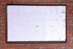 Tarjeta de aviso Fotografía de archivo