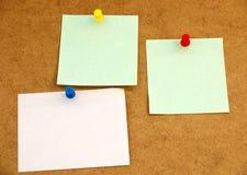 Tarjeta de aviso con el post-it note#1 Imágenes de archivo libres de regalías