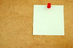 Tarjeta de aviso con el post-it note#3 Foto de archivo libre de regalías