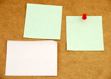 Tarjeta de aviso con el post-it note#4 Fotografía de archivo libre de regalías
