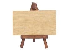 Tarjeta de aviso de madera Foto de archivo libre de regalías