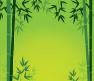 Tarjeta de bambú stock de ilustración