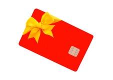 Tarjeta de banco roja Fotografía de archivo libre de regalías